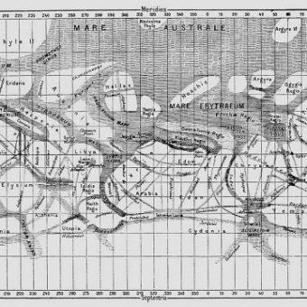 Harta canalelor de pe Marte (Schiaparelli)